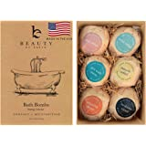 Bath Bombs Gift Set - 6 Large with Organic Shea Butter, Made in USA, Best Christmas & Birthday Gifts for Women, Bath…