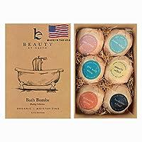 Bath Bombs Gift Set - 6 Large Natural & Organic, Birthday Gifts for Women, Bath...
