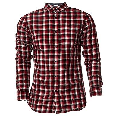 Tommy Jeans Chemise Carreaux Rouge Slim fit pour Homme  Amazon.fr   Vêtements et accessoires cc32da183ff7