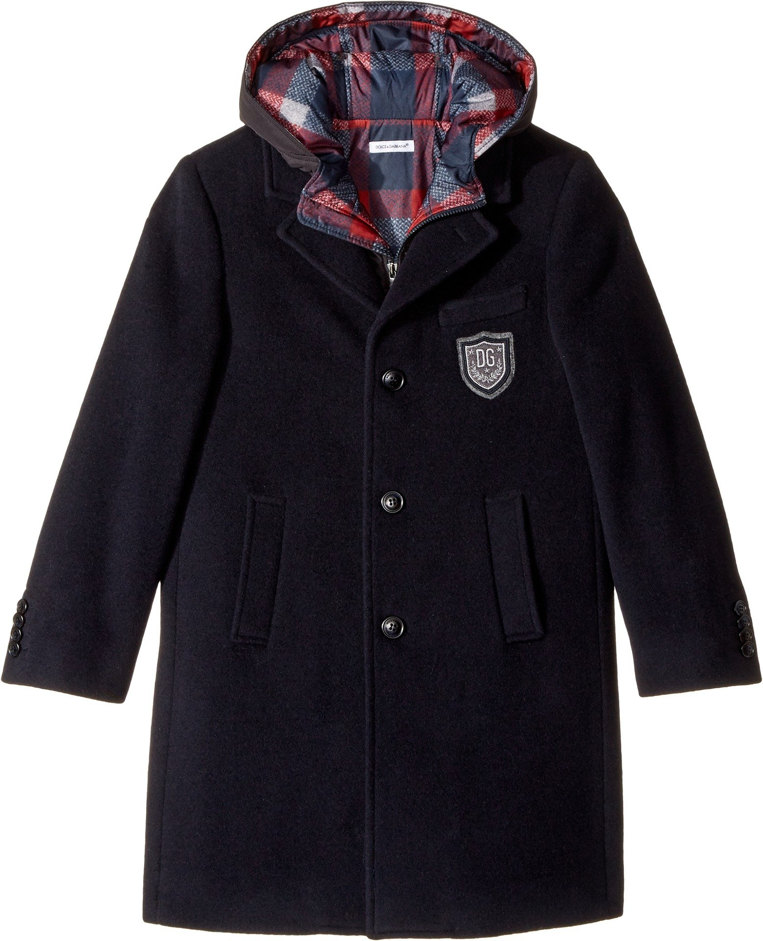 Dolce & Gabbana Kids  Boy's Back to School 2-in-1 Coat (Big Kids) Blue 12
