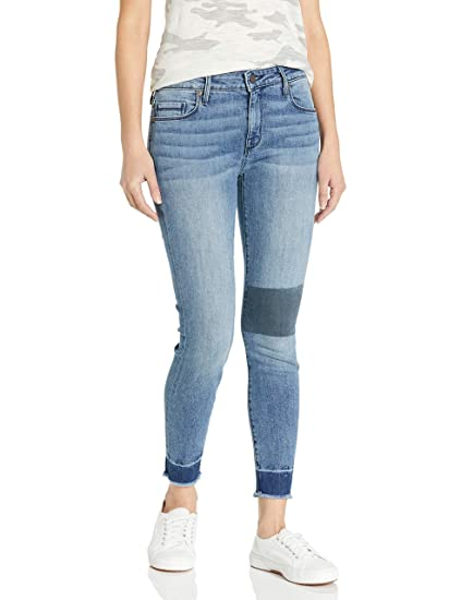 Parker Smith Womens Ava Crop Skinny Patched Jean