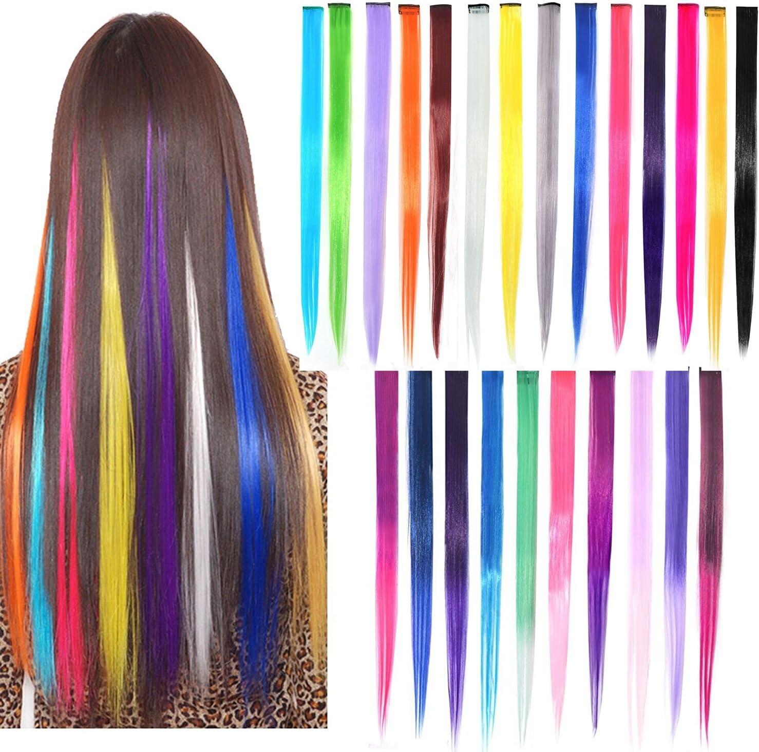 Extensiones de pelo con clip de 22 pulgadas de color ...