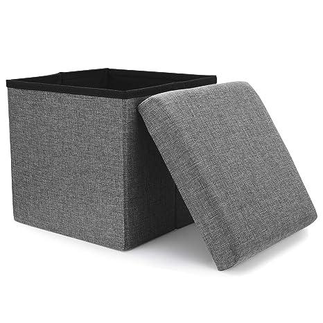 Amazon.com: WoneNice – Otomán de almacenamiento plegable de ...