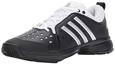 2dc74ea577508e adidas Men's Barricade Classic Bounce Tennis Shoe, core Black/Metallic  Silver/White,