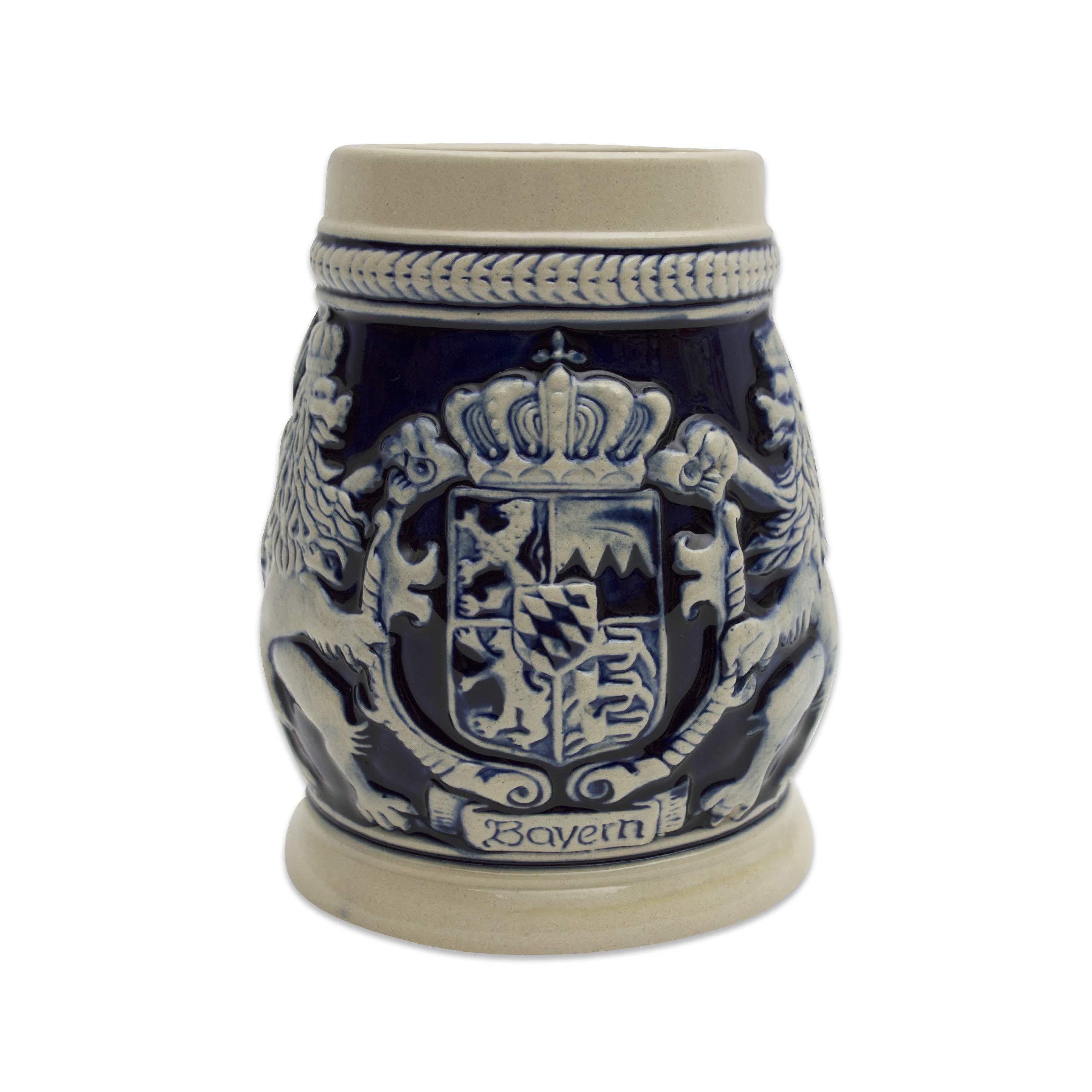 Beer Stein Germany Bayern Coat of Arms Beer Mug by E.H.G. | .75 Liter