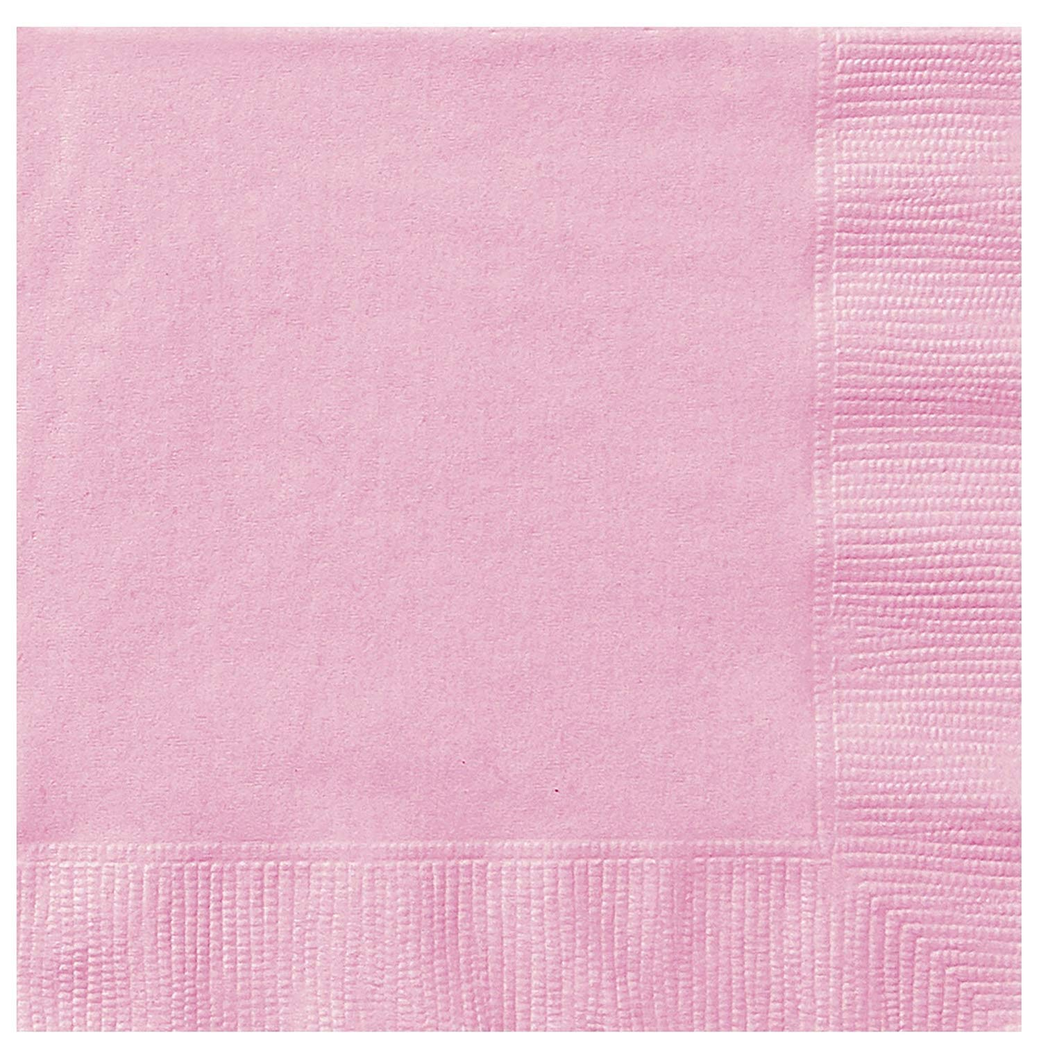 WOW Packs of 20 Paper Napkins Baby Pink