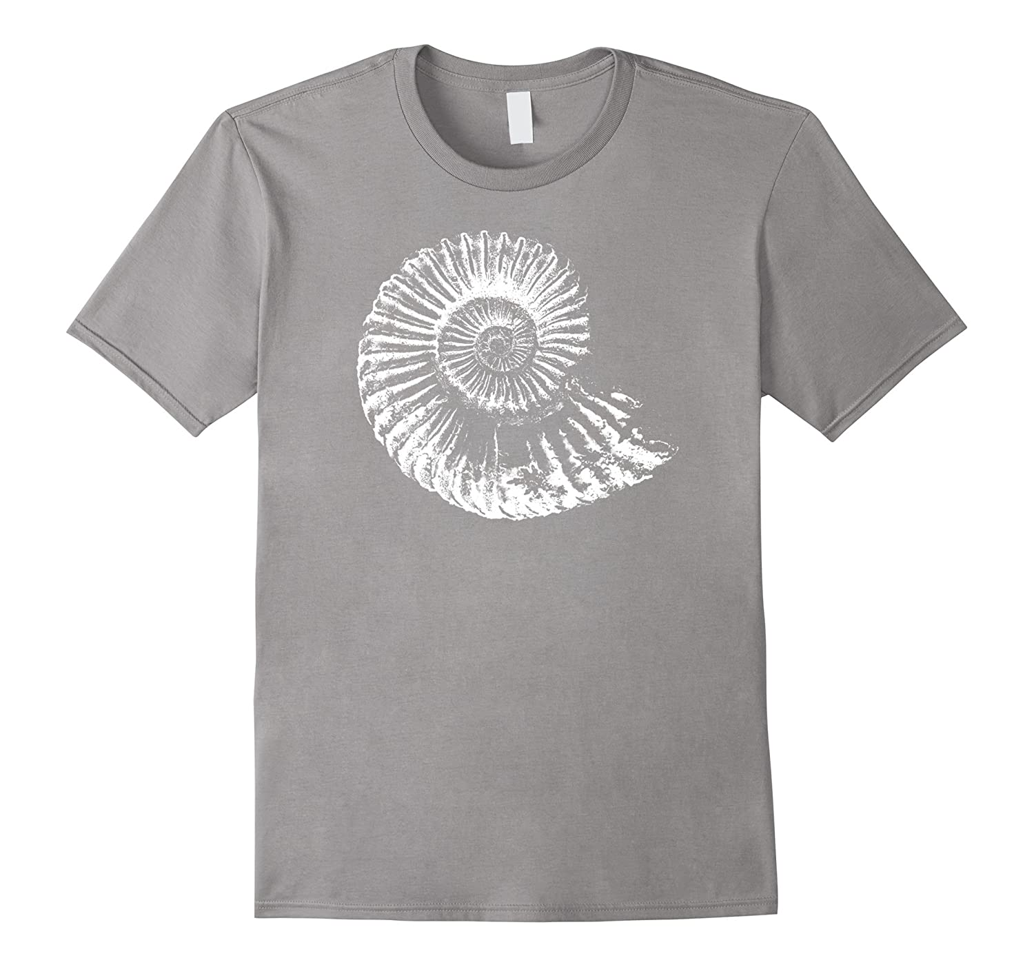 Fossil tshirt with an ammonite ideal for fossil hunters-PL