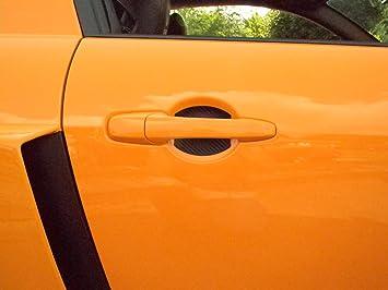 Amazon.com: Carbon Fiber Car Auto Door Handle Cup Scratch Guards ...
