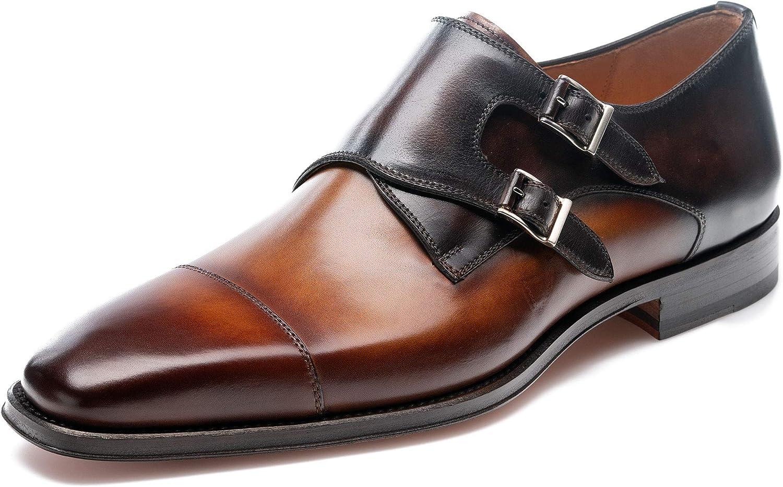 magnanni black monk strap