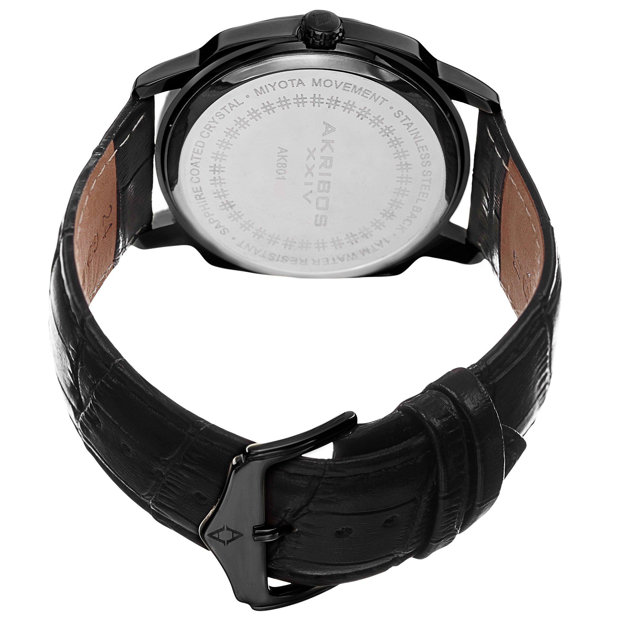Akribos XXIV Men's AK885BK Quartz Multifunction Strap and Bracelet Watch Set by Akribos XXIV (Image #5)