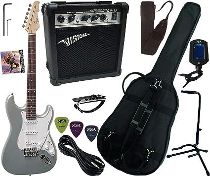 Pack Guitarra Eléctrica Amplificador 15 W 9 accesorios 11 versiones: Amazon.es: Instrumentos musicales