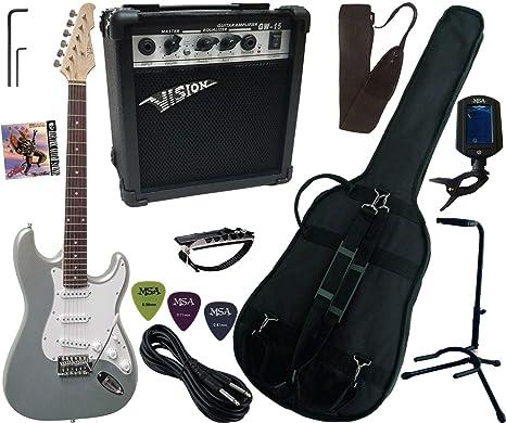 Pack Guitarra Eléctrica Amplificador 15 W 9 accesorios 11 ...