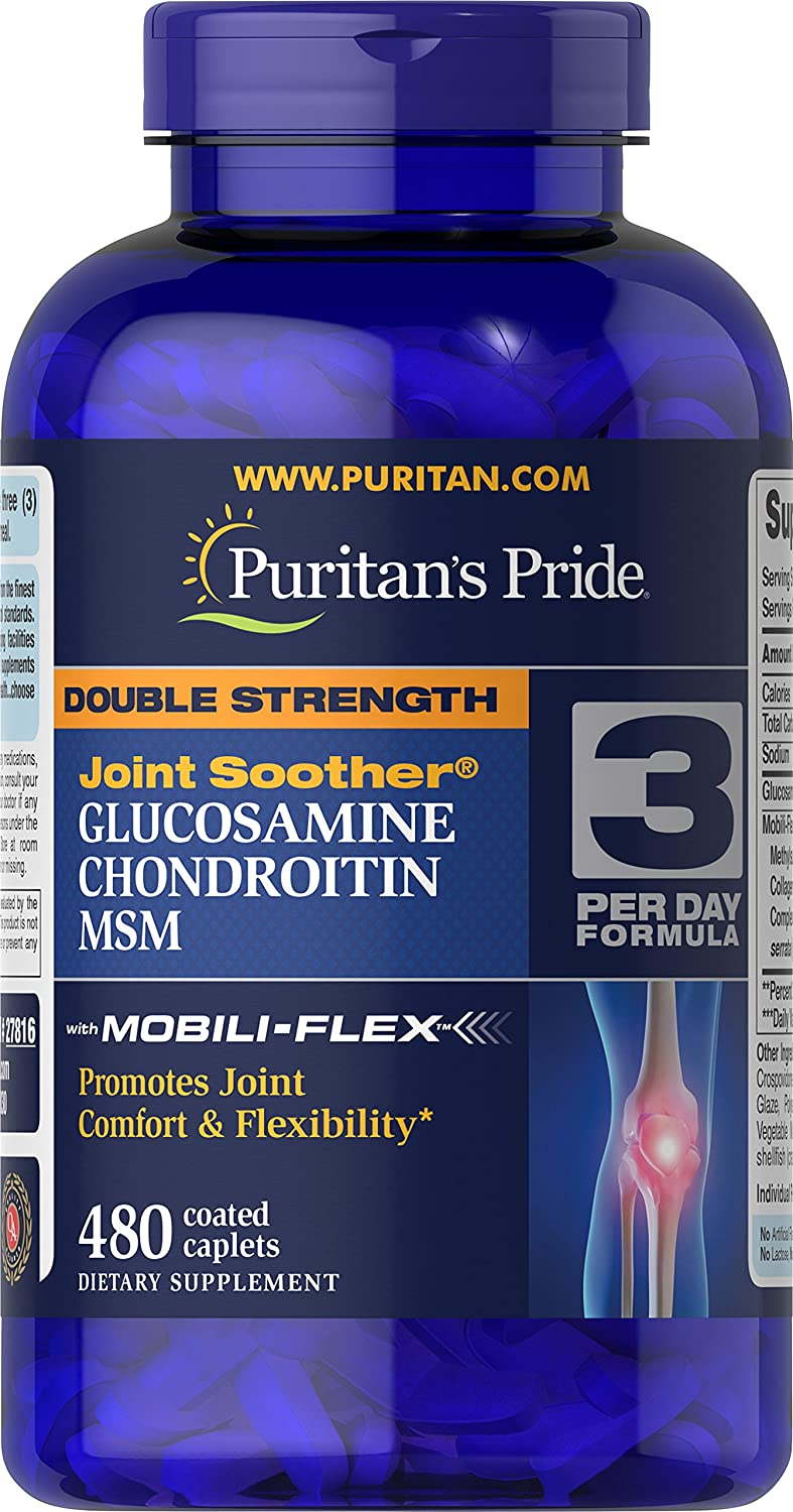 Kirkland Signature Extra Strength Glucosamine Hci 1500mg All With Msm Puritans Pride Double Chondroitin