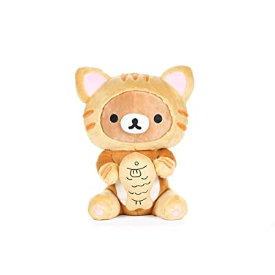 "Rilakkuma by San-X 13"" Tiger Eating Fish Plush, Doll, Stuffed Animal Authentic Licensed Product: Toys & Games"