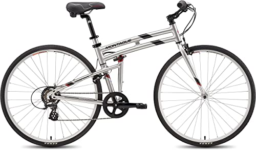 New Montague Crosstown Folding 700c Pavement Hybrid Bike Boulder Gray 19