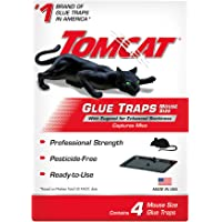 Tomcat Glue Traps Mouse Size with Eugenol for Enhanced Stickiness, Contains 4 Mouse Size Glue Traps - Captures Mice and…