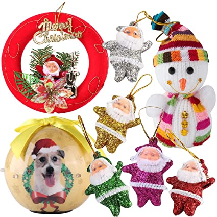 classic traditional christmas decorations shatterproof xmas dog ball ornaments with twinkling light snowman plush santa claus - Amazon Christmas Decorations Indoor