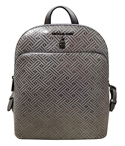 0abc3b77d34e Amazon.com: Michael Kors Adele Large Leather Backpack in Dark Silver: Shoes
