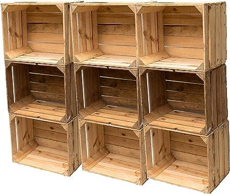 Cajas de madera usadas en el set: cajas de fruta vintage originales para la construcción de