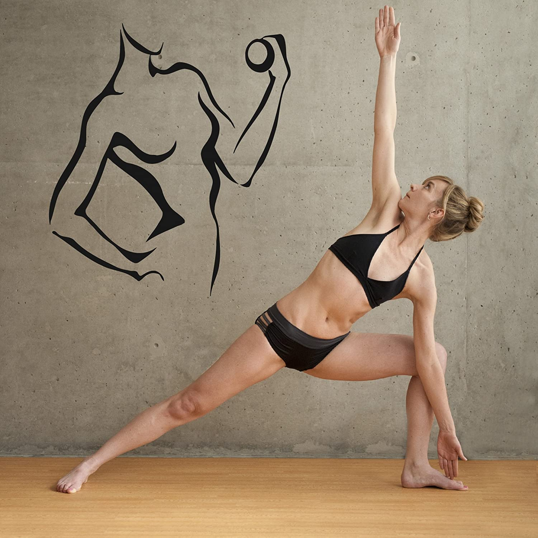 Wall Vinyl Sticker Bedroom Gym Bodybuilding Crossfit  Weights Sport Life bo3160