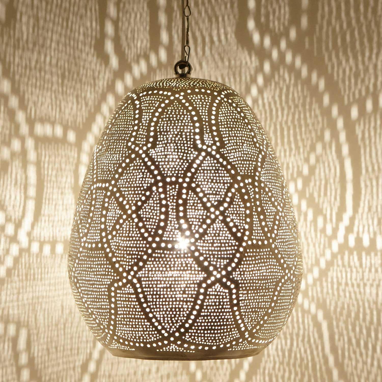 Orientalische Orientalische Orientalische Marokkanische handgefertigte Pendellampe Deckenleuchte Silber-Messinglampe für tolle Lichtspiele wie aus 1001 Nacht Saham D28 e9ece1