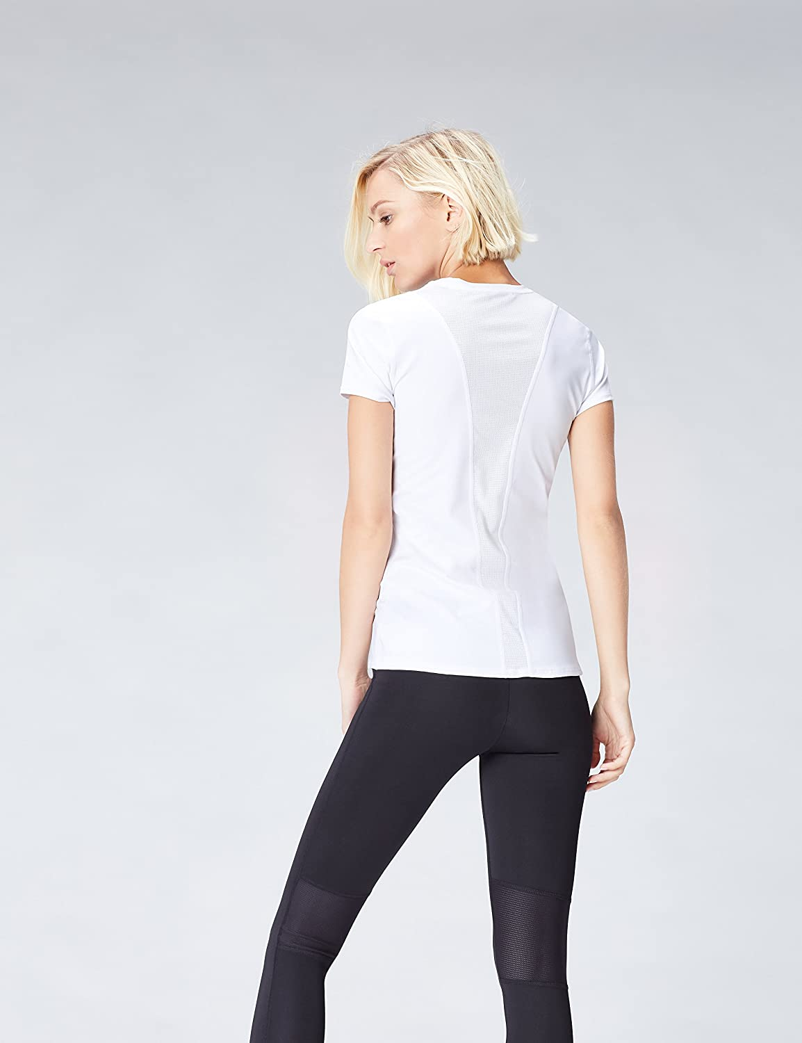 Mesh Panel Workout Activewear Maglia sportiva Donna