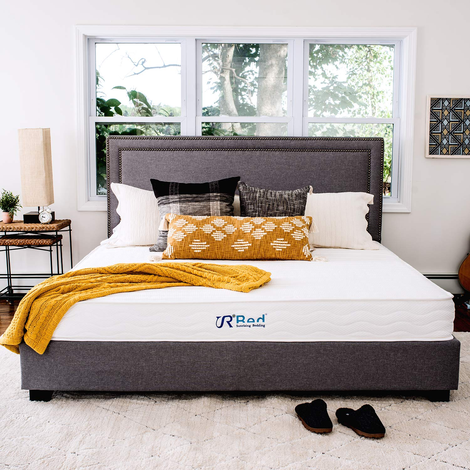 """Sunrising Bedding 8"""" Natural Latex Twin Mattress, Individually Encased Pocket Coil, Firm, Supportive, Naturally Cooling, Non-Toxic Organic Mattress, 120-Night Risk-Free Trial, 20-Year Warranty"""