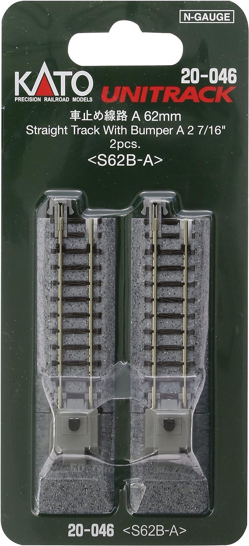 """B0003K1LGY Kato KAT20046 N 62mm 2-7/16"""" Bumper, Type A (2) 81ZL1zMpZCL"""