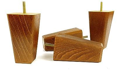4 patas de madera de repuesto para sofás, sillones y ...