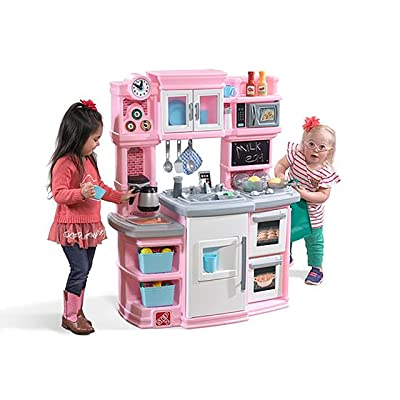 Step2 784200 Great Gourmet Kitchen | Durable Kids Kitchen Playset with Lights & Sounds | Pink Plastic Play Kitchen, 16.75 x 39 x 46 inches: Toys & Games