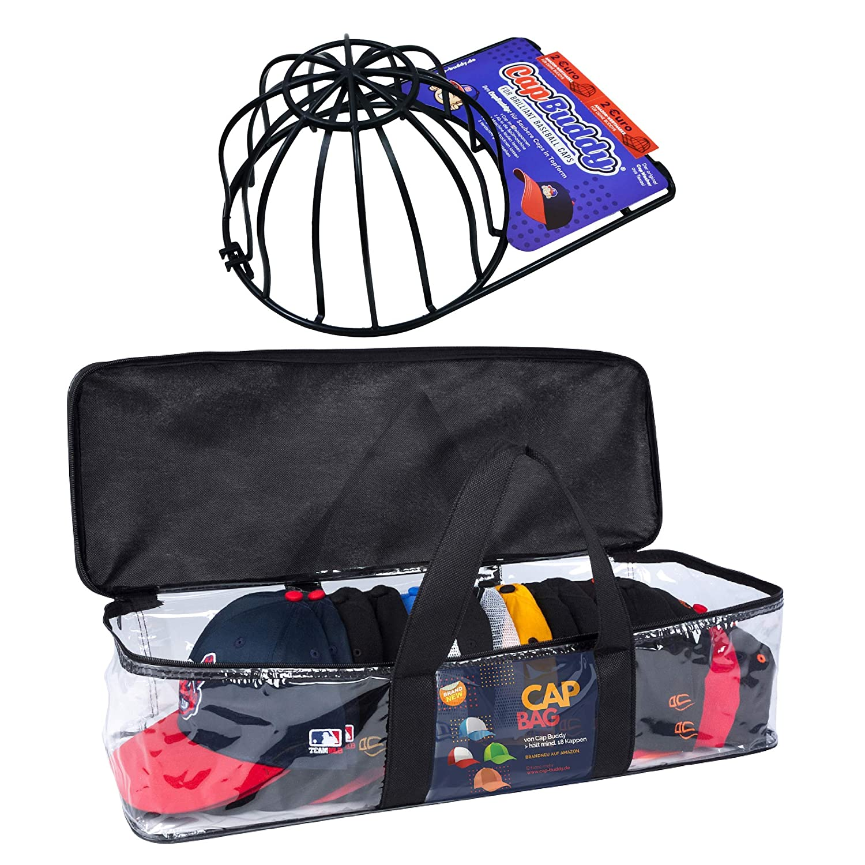 Baseball Cap Cap Buddy Cap Bag Set Including Top Cap Washer and Cap Storage of at least 18