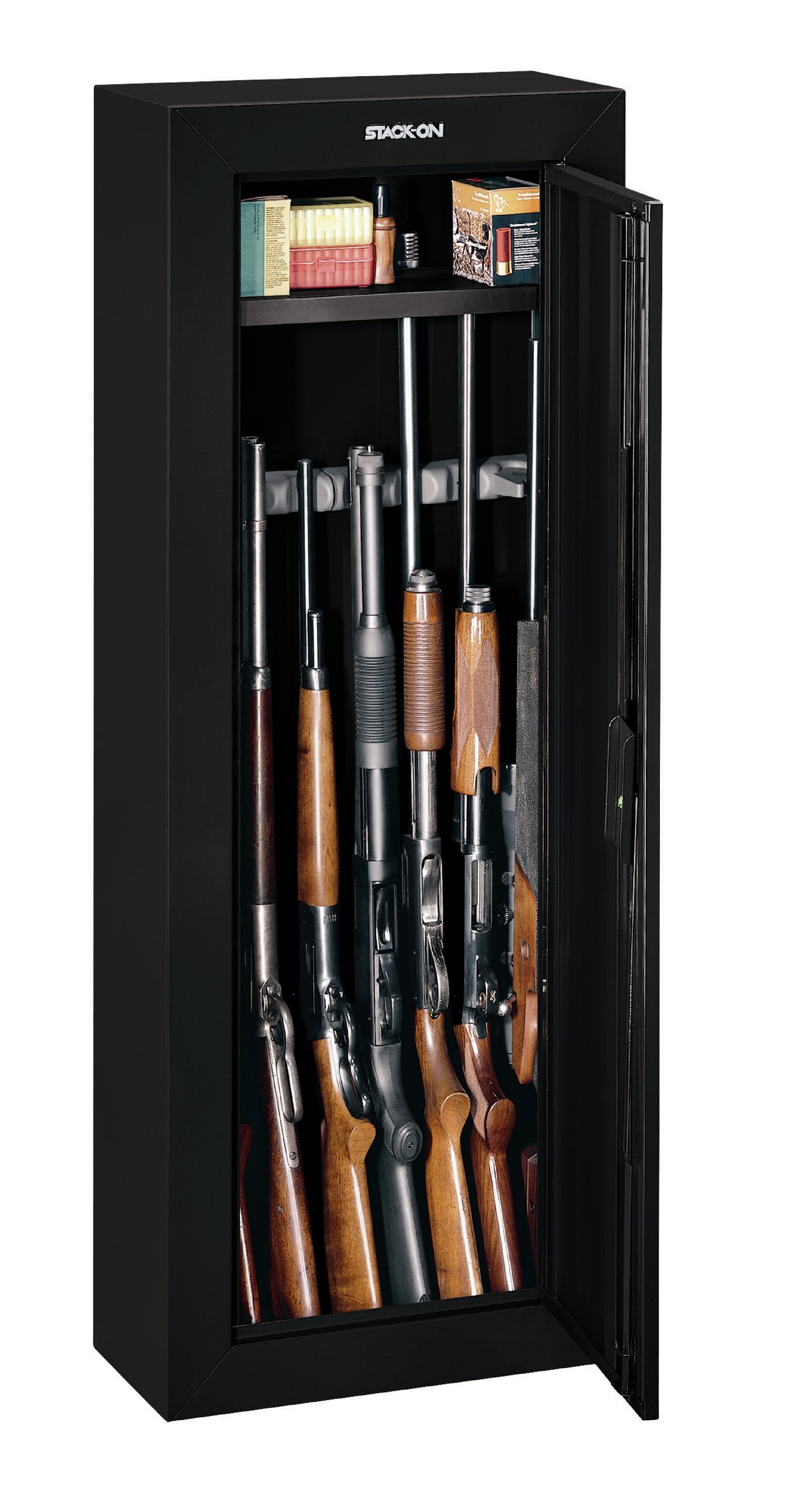 Stack-On GCB-908 Steel 8-Gun Security Cabinet, Black by Stack-On