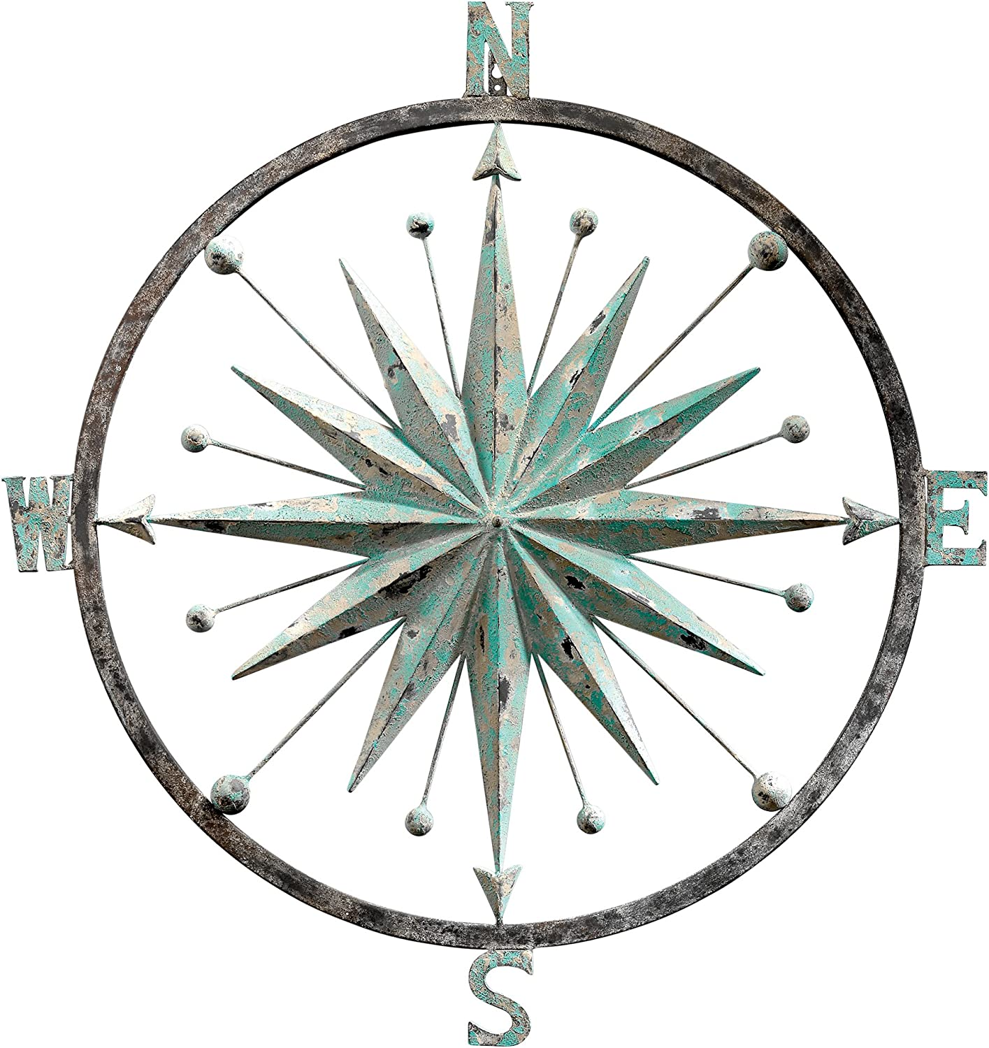 Design Toscano Winds Compass Rose Wall Sculpture, Verdigris
