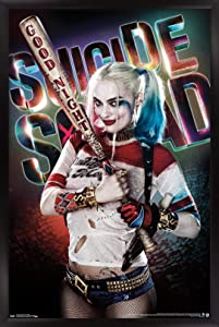 """Trends International DC Comics Movie - Suicide Squad - Good Night Wall Poster, 22.375"""" x 34"""", Black Framed Version"""