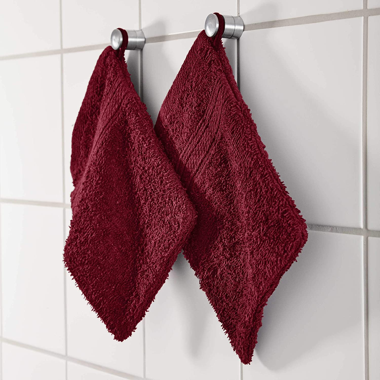 Lumaland Premium Set 10 Toallitas 16 x 21 cm 100% Algodón 500 g/m Rojo: Amazon.es: Hogar