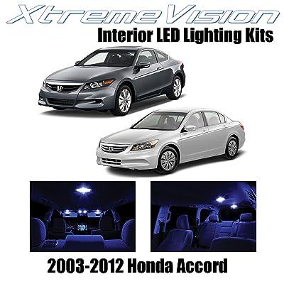 XtremeVision Interior LED for Honda Accord 2003-2012 (12 Pieces) Blue Interior LED Kit + Installation Tool: Automotive