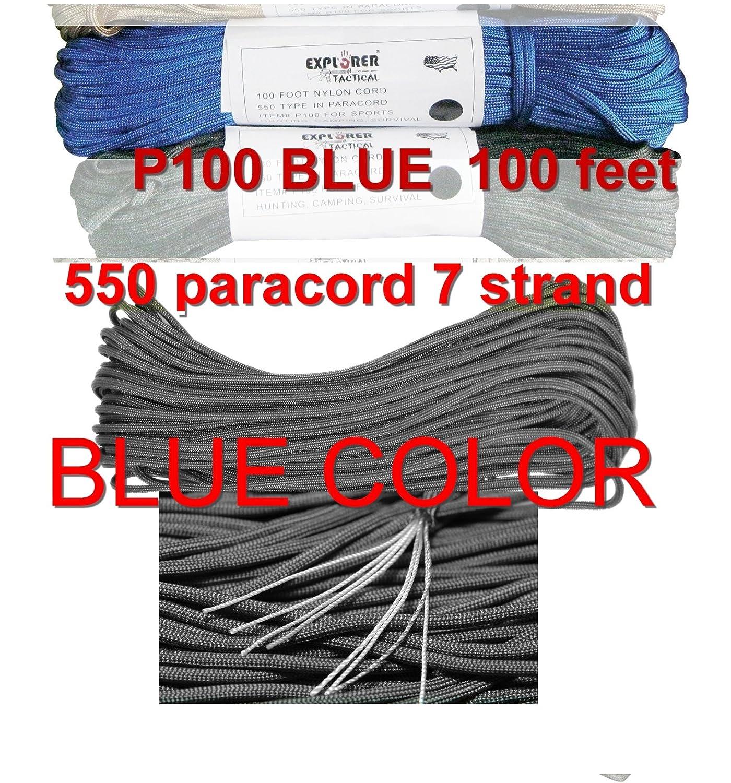(Not Available, B00KGV9W3E Par Blue) - 7 Explorer Bags 550 Paracord 7 Strand Par Cord B00KGV9W3E, retro:74c01c41 --- ijpba.info