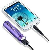 Veho Pebble Smartstick Emergency Portable Powerbank / Backup Battery 2,200 mAh (Purple)