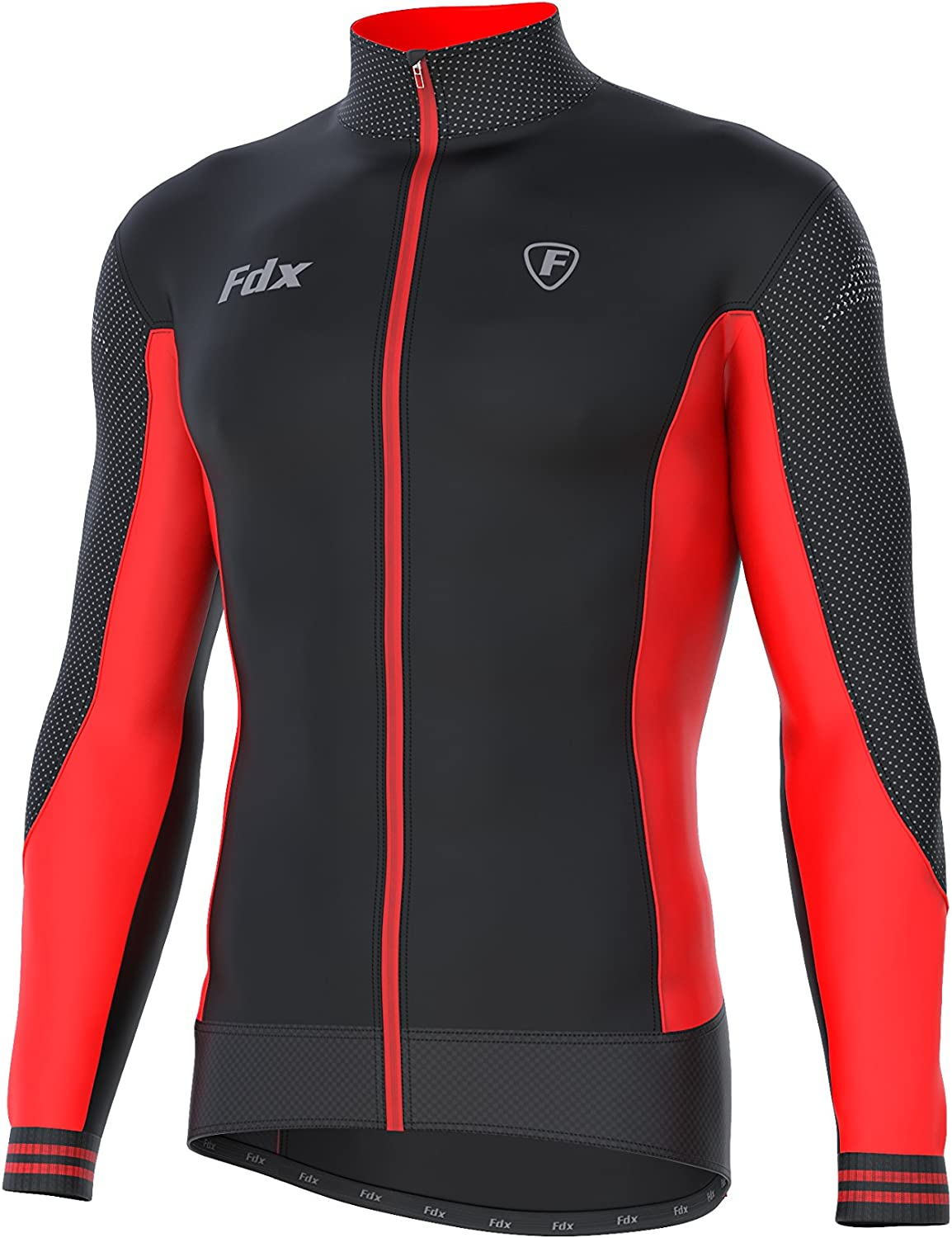 FDX Mens Thermodream Cycling Jersey Winter Thermal Padded Bib tights Combo set