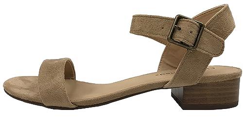 97a840941eb City Classified Comfort Womens Open Toe Ankle Strap Low Block Heel Sandal