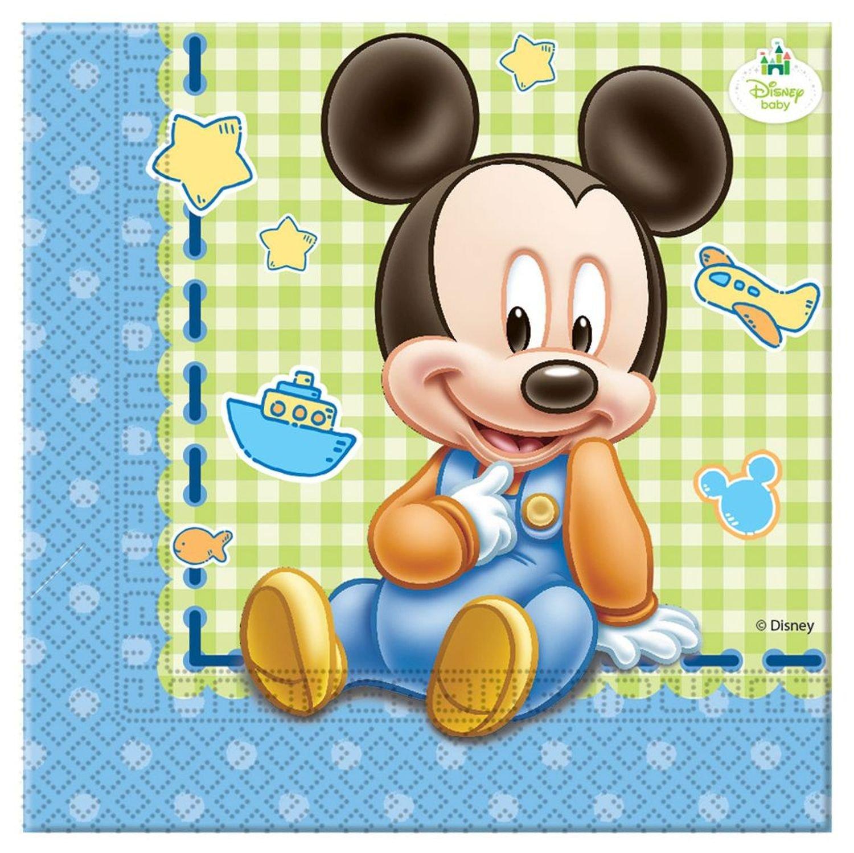 Set di accessori per feste motivo: Baby Topolino Procos 10108563B 37 pezzi