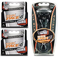 Dorco Pace 6 - Six Blade Razor Blade System - Value Pack (10 Pack + 1 Handle)