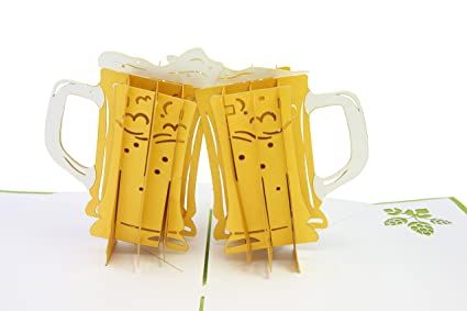 Beers and Cheers 3d pop up card