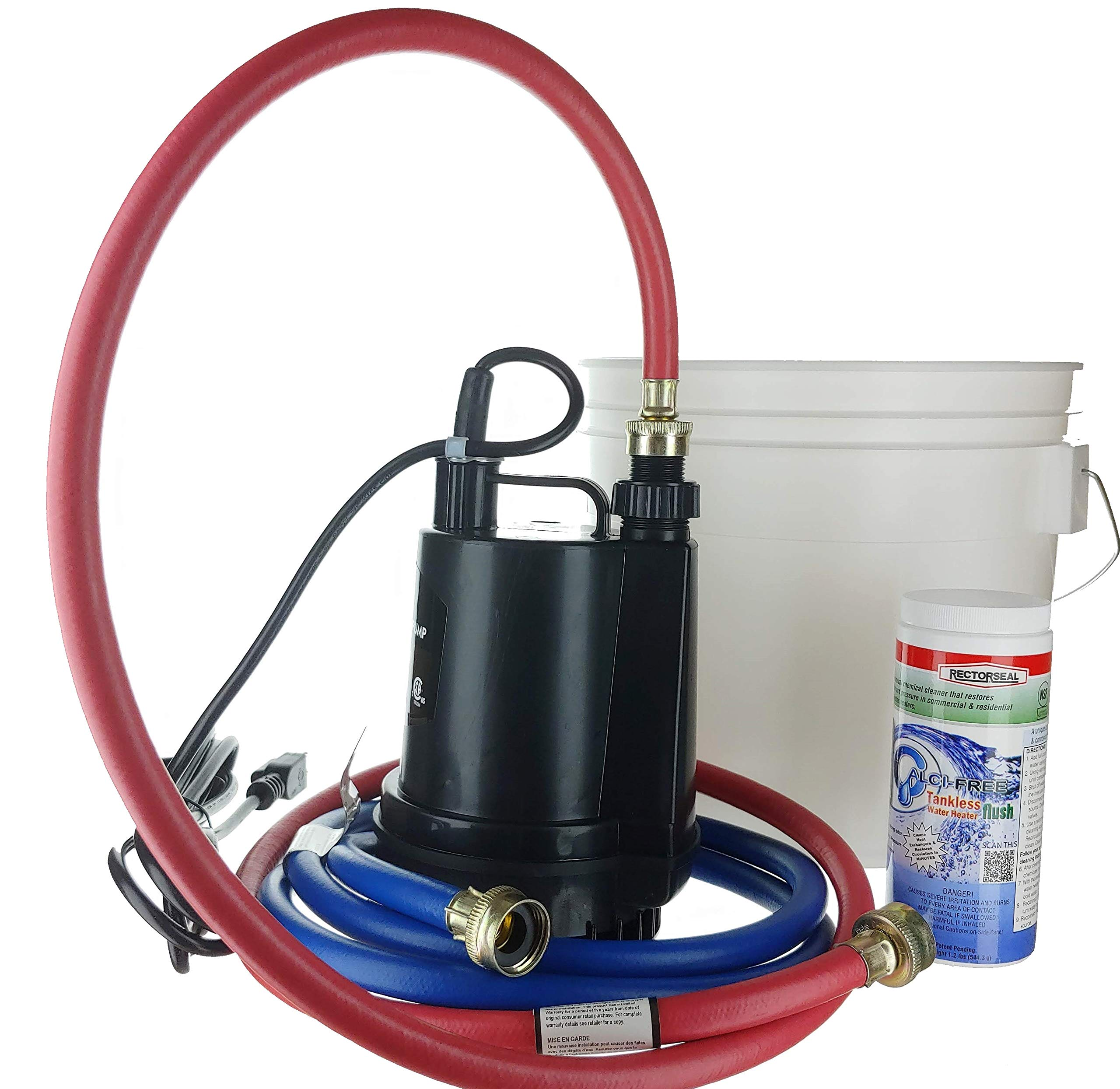 Kelaro Tankless Water Heater Flushing Kit with Rectorseal Calci-Free by Kelaro