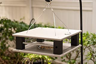 product image for DutchCrafters Poly Bird Feeder for Small Cute Birds Made in America (Light Gray & Black)