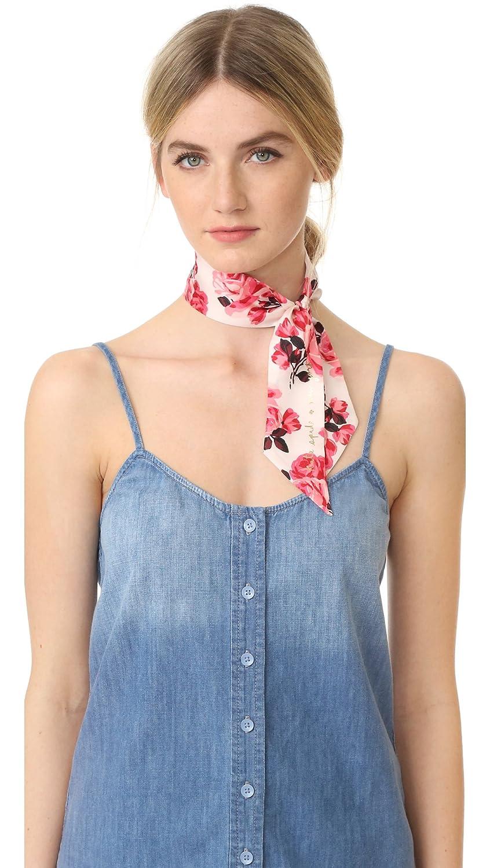 Kate Spade New York Women's Rosa Silk Skinny Scarf