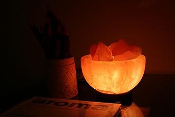 Lámpara de sal del Himalaya Fuego cuenco: Amazon.es: Iluminación