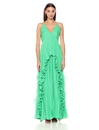 0ff3e2b46ab Amazon.com  Halston Heritage Women s Sleeveless Halter V Neck ...