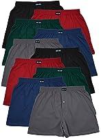 10 Boxershorts in klassischen Grundfarben - locker & weiche Unterhose Short Boxer 100% Baumwolle 10er Spar Pack Jungen Man M L XL 2XL 3XL 4XL