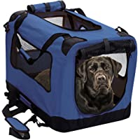 2PET Foldable Dog Crate - Soft, Easy to Fold & Carry Dog Crate for Indoor & Outdoor Use - Comfy Dog Home & Dog Travel…
